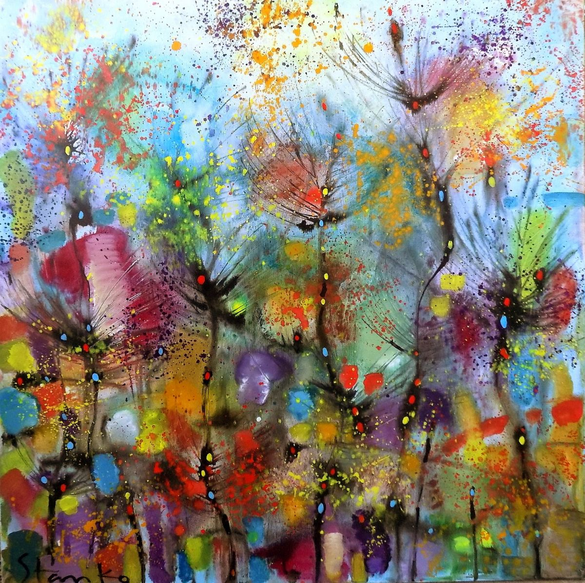 Abstract Landscape Xxxi By Stanislav Bojankov Sell Buy Original Paintings Online