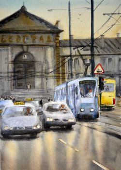 Welcome To Belgrade Train Station 35X25 Cm 2015 by Nenad Kojic