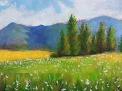 Small Oil Spring Landscape Painting
